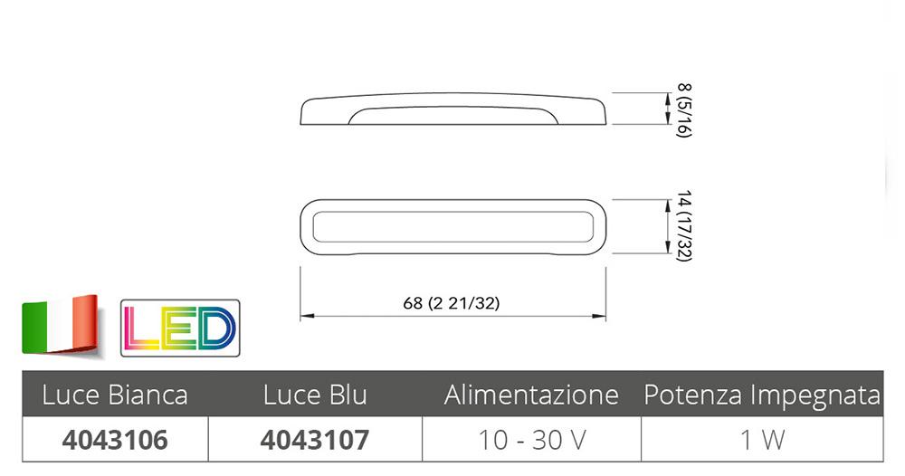 LUCE BIANCA DI CORTESIA TAB SSR 1