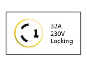 PRESA 2P+T 220V. 32A IP56