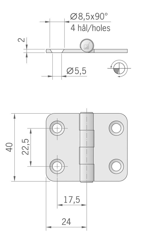 CERNIERA MM.40X48