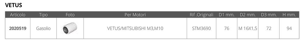 FILTRO GAS.VETUS-MITSUBISHI STM3690