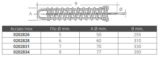 MOLLA ORMEGGIO INOX