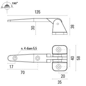 CERNIERA MM.135X58