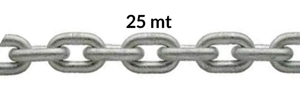 CATENA ZINCATA CALIBRATA 25MT