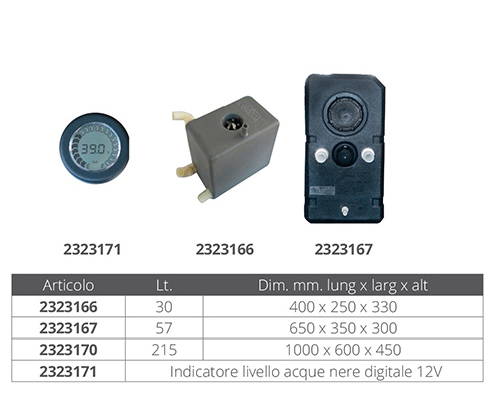 INDICATORE LCD ACQUE NERE