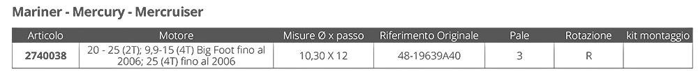 ELICA AMITA MB 3 - 10,3 X 12