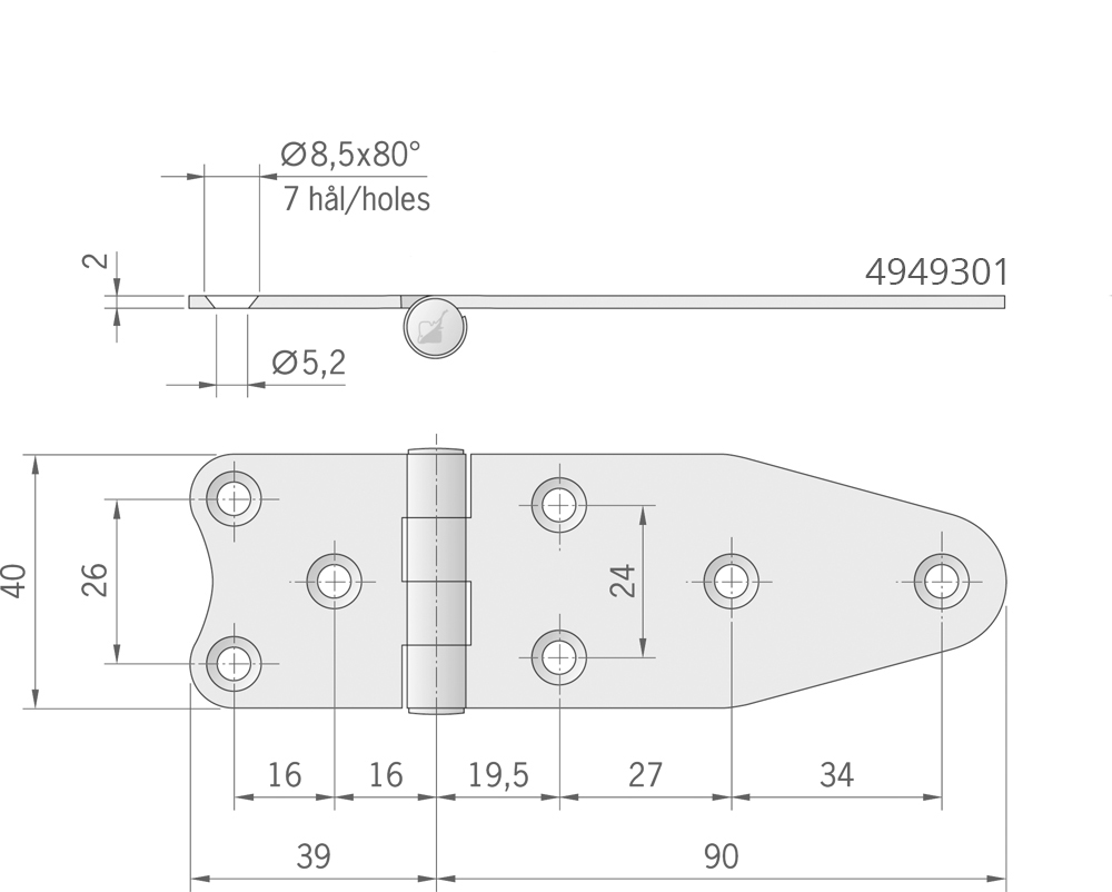 CERNIERA MM.129X40