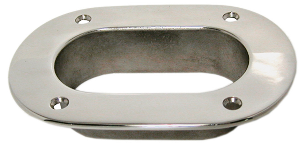 CUBIA OVALE IN ACCIAIO INOX