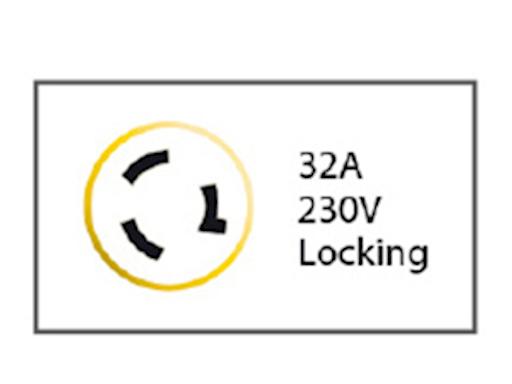 SPINA 2P+T 220V. 32A IP56