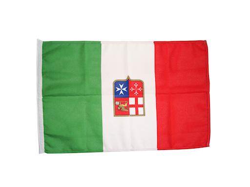 BANDIERA ITALIA MARINA MERCANTILE IN STAMINA DI POLIESTERE
