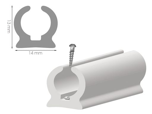 CANALINA IN PVC A RELINGA