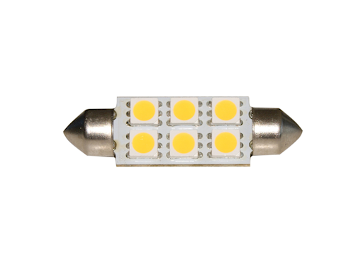 LAMPADINA A SILURO 6 LED SMD